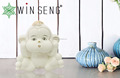 White color ceramic baby wise monkey home decoration