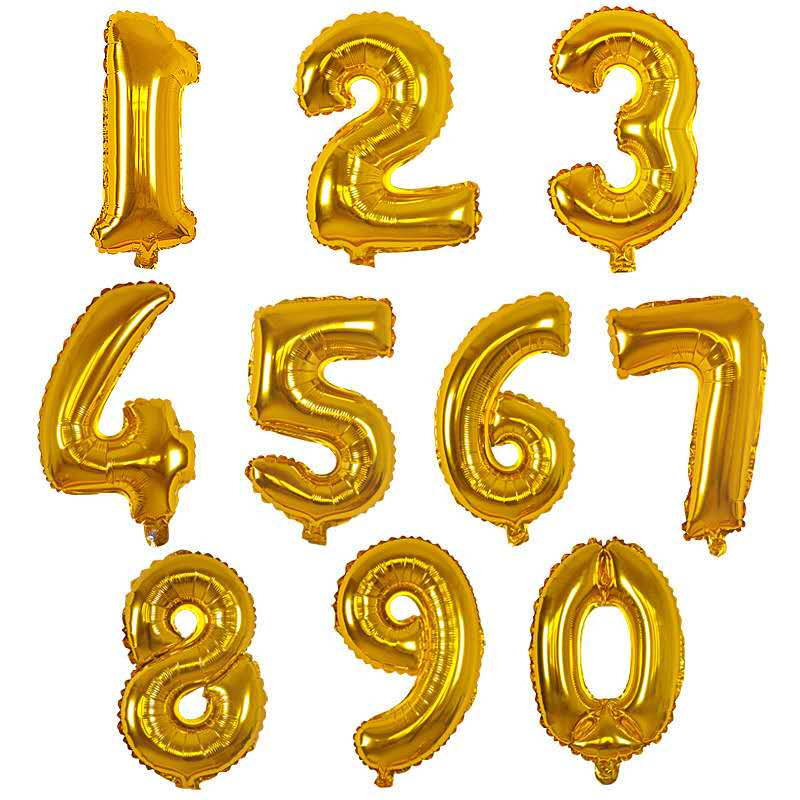 Inch Home Garden Classic Toys Decoration Helium Foil Aluminum Balloon Numbers