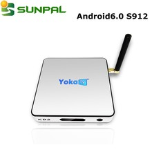 Original YokaTV 2GB DDR 32GB KB2 S912 Android 6.0 marshmallow TV Box from Sunpal