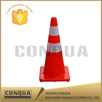 pe barrier with sand filled traffic cones