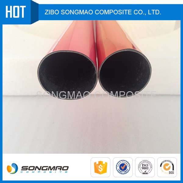 Eco-friendly carbon fiber tube in red color