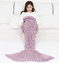 Factory direct selling ebay ins Popular Series knitted mermaid tail blanket adult /children