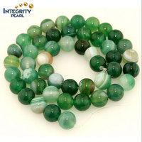 4 6 8 10 12mm agate nice design green round striped agate loose beads