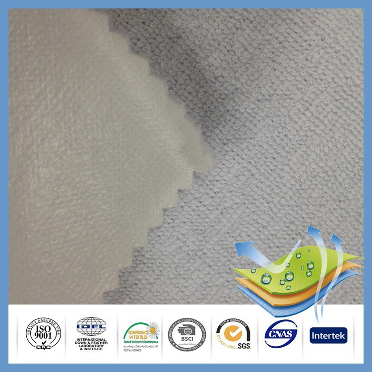 100% polyester knitted fabric waterproof polyurethane laminate fabric