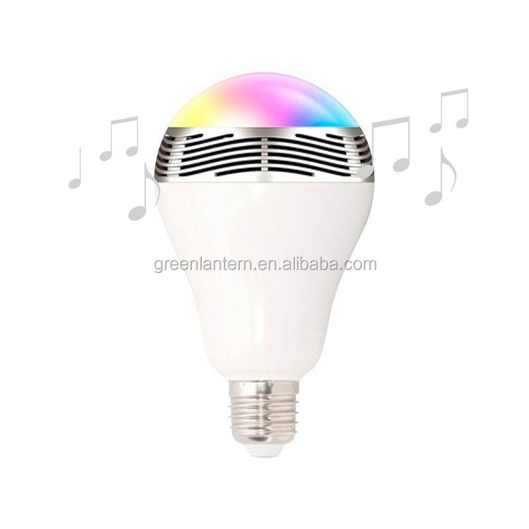 Energy saving light source and colorful color smart wireless bluetooth speaker with led bulb light
