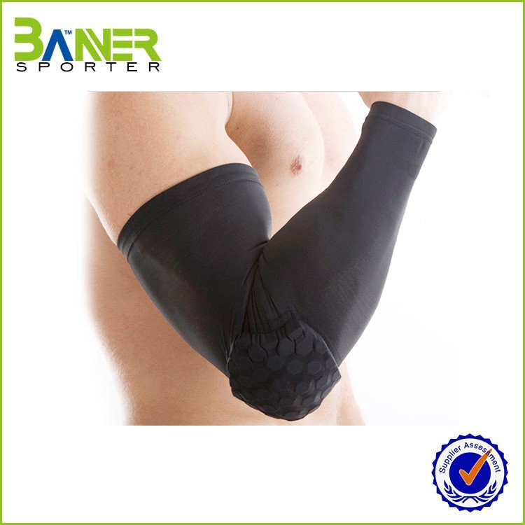 Manufacture High Quality lycra Fitness / Cycling / Basketball / Running Compression Arm Sleeves with pad