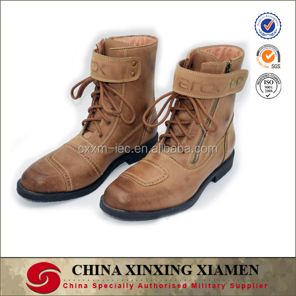 New Arrival Motorcycle Zipper Cowhide Harley Boots Martin Shoes Protective Racing Boots