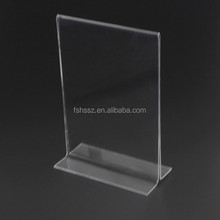 T shape 8.5* 11 indoor acrylic sign holder