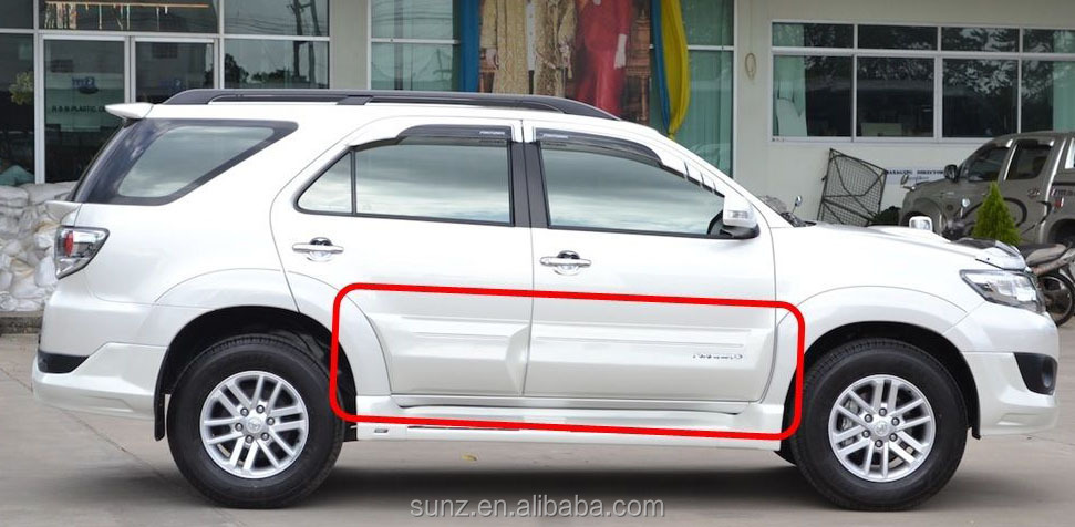 Toyota fortuner 2012 best selling body cladding body guard side guard mud guard car accessories