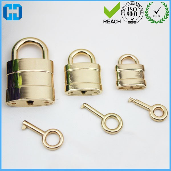Metal Classical Square Padlock with Key Travel Luggage Suitcase Lock