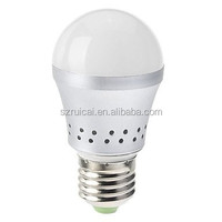 2pcs/lot Dimmable Silver 7w Warm white 3000k 630lm e27 led bulb