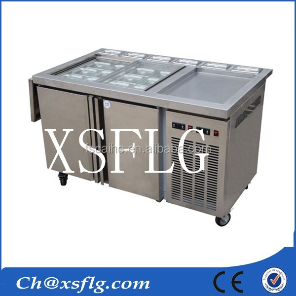 automatic xsflg fry pan ice cream machine