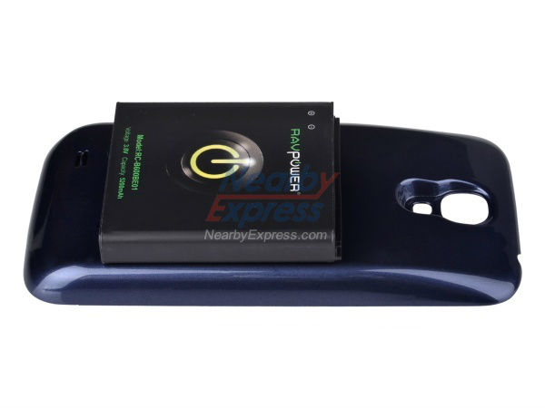 RAVPower Extended Battery RC-B600BE01 5200mah for Samsung Galaxy S2 S4 i9500 Extended Battery Cases with NFC Dark Blue Cover