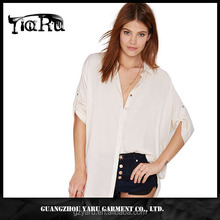 Hot cotton brand clothing tops and blouse women tops plus size women blouses latest fashion blouse design