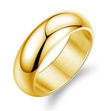 Cheap men stainless steel meaningful plain gold plated white gold plated finger rings for engagement SJTY334