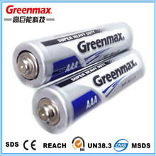 Carbon zinc battery extra heavy duty battery R03P 1.5V AAA with Competitive price