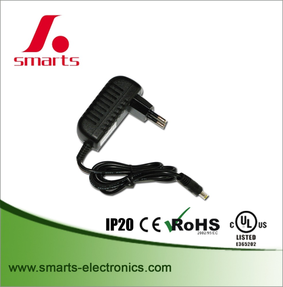 ce rohs listed plug in ac power adapter output 12v 2a 24w
