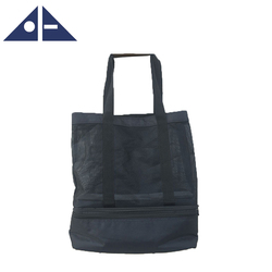 Outdoor Wholesale Durable Towel Beach Tote Bag With Black Mesh