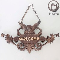 angel shaped cast iron door sign for home decor