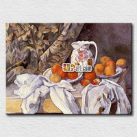 Reading room colorful oil painting fruits