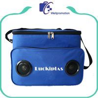 Promotional fitness insulated bluetooth speaker cooler bag