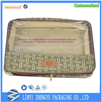 high quality small clear pvc and fabric leather bedsheet bag supplier wholesale