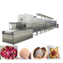Hot sale industrial conveyor belt tunnel type microwave herb leaf drying and sterilizing machine