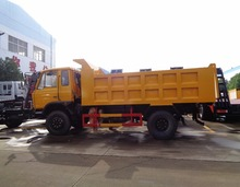 CLW right hand drive steering wheel 4x2 12 tons stone and rock sand cinder dump truck with 4600*1200*2300mm dumper box