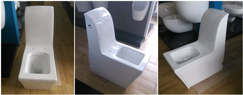 Single lever flush washdown wc one piece chaozhou ceramic toilet