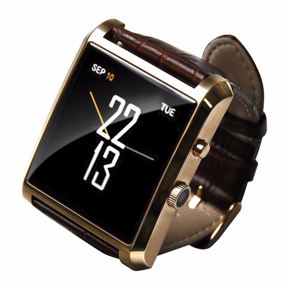 DM08 Smart Watch Waterproof Wrist Watch Phone with Camera Touch Screen and PU Leather Strap Band Smartwatch for Android IOS