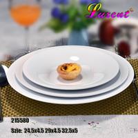 Factory price porcelain dinner plate, round pasta plate, dinnerware, hotel supplies