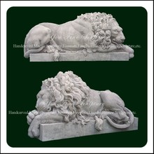 High Density Housing Architecture Marble Garden Lion Statues