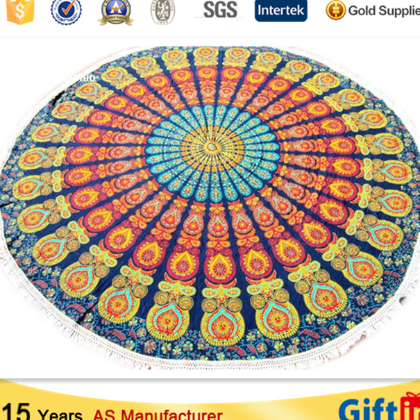 India Large mandala round beach towel, printed round beach towel, hot sale beach towel