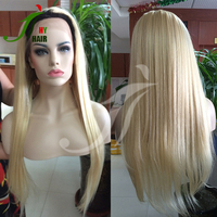Glueless Full Lace Wig Blonde 1B 613 Unprocessed Brazilian Virgin Human Hair Two Tone Ombre Lace Front Wigs with Baby Hair
