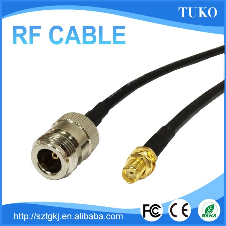 100% Top quality excellent performance N female to SMA female coxial cable