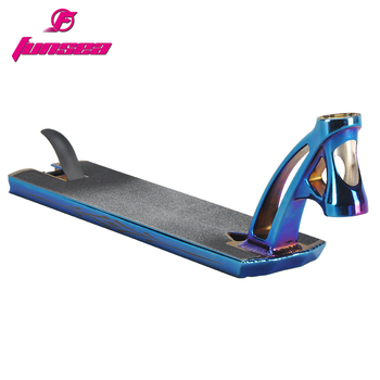 Funsea supply PVD blue AL6061 one pcforged head tube 127*540mm scooter deck scooter parts for 110/120mm rear wheel