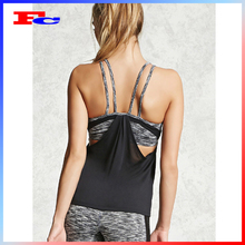 Activewear personalizado Dry Fit Gym Vest Sexy Back Projeto Mulheres FitnessTank Top