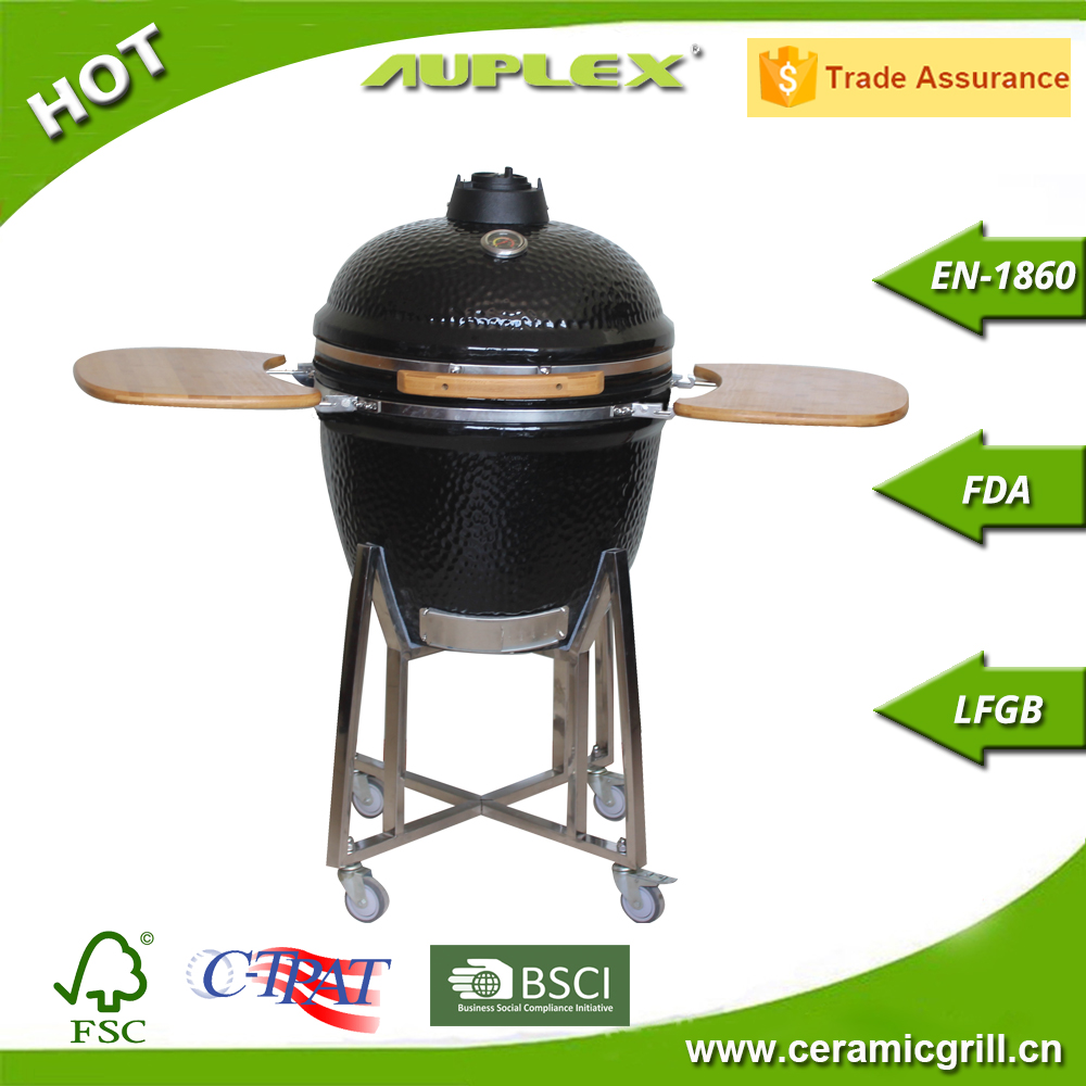 "Newest Glazing Auplex kamado 23.5""/21""/18""/13"" Durable Ceramic Smoker"