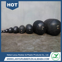 inflatable rubber airbag for adjustable pipe plug