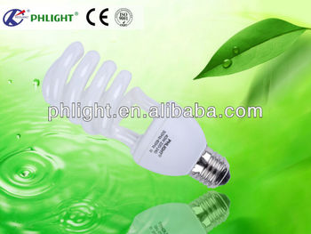 220V E27 4.0T cfl Half spiral energy saving lamp