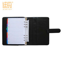 China custom logo made New fashion A5 high quality leather diary portfolio