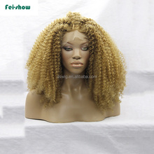 Wholesale 150% density cheap short lace front wigs for black women afro synthetic hair