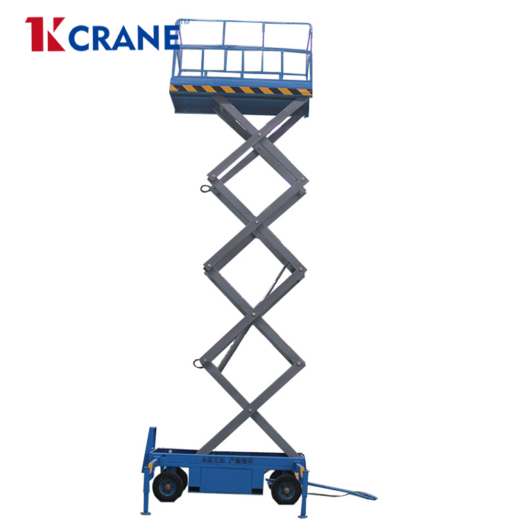 Self Propelled working platform Scissor lift automobile