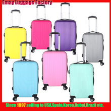 Different colors Fashionable Hard Shell ABS Trolley Travel Luggage