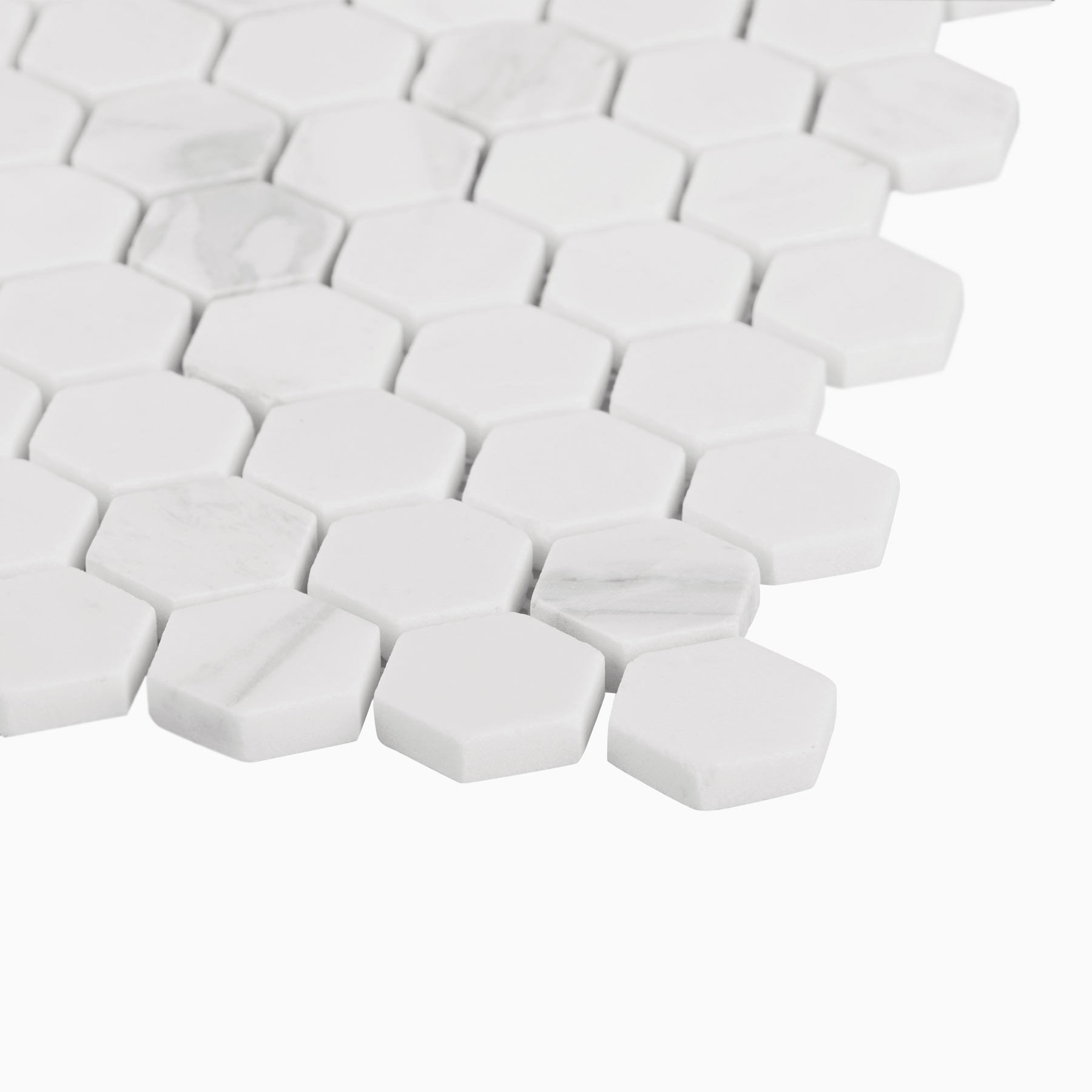 Volakas hexagon Mosaic White natural White Marble 305*305mm