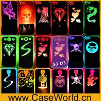 Color Changed LED light up case Protector PC +aluminium Case for Samsung Galaxy S3 S4 I9500