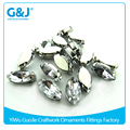 Guojie brand Hot selling oval Shaped for embellished Bridal Gown garment with claws crystal
