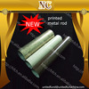 new design 35mm printed metal curtain rods