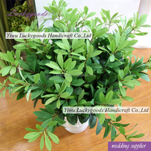 LLV104 wholesale fake plastic green plant leaf for arrangement