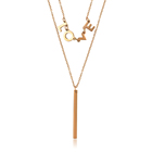 00885 stainless 강 jewelry women rose 금 옷 액세서리 fashion necklace